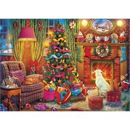 Festive Fireside 1000 Piece Jigsaw Puzzle Thumbnail Image 1