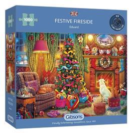 Festive Fireside 1000 Piece Jigsaw Puzzle thumbnail