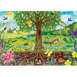 Wonderful Wildlife Children's 100XXL Piece Jigsaw Puzzle Thumbnail Image 1