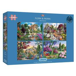 Flora & Fauna 4 x 500 Piece Jigsaw Puzzle Thumbnail Image 0