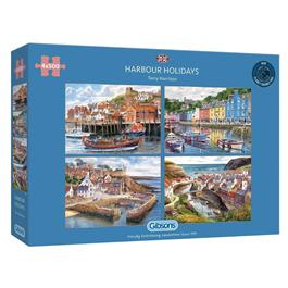 Harbour Holidays 4 x 500 Piece Jigsaw Puzzle thumbnail