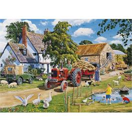The Farmer's Round 4 x 500 Piece Jigsaw Puzzle Thumbnail Image 2