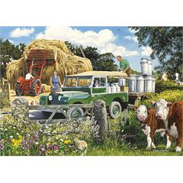 The Farmer's Round 4 x 500 Piece Jigsaw Puzzle Thumbnail Image 3