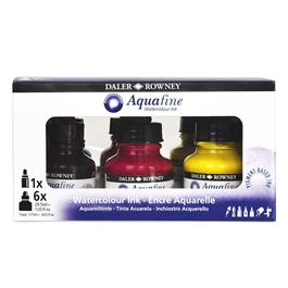 Daler Rowney Aquafine Watercolour Ink Set Thumbnail Image 4