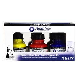 Daler Rowney Aquafine Watercolour Ink Set Thumbnail Image 0