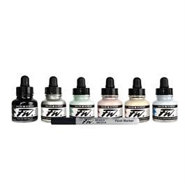 Daler Rowney FW Ink Shimmering 6 Set Thumbnail Image 2