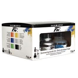 Daler Rowney FW Ink Shimmering 6 Set Thumbnail Image 3