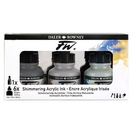 Daler Rowney FW Ink Shimmering 6 Set Thumbnail Image 4