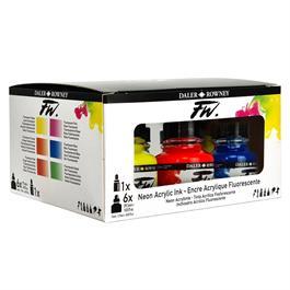 Daler Rowney FW Ink Neon Set Thumbnail Image 3