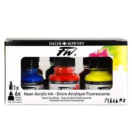 Daler Rowney FW Ink Neon Set Thumbnail Image 4
