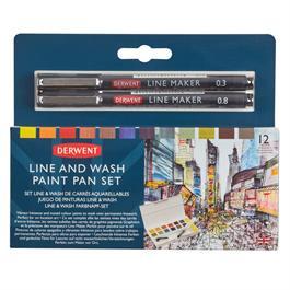 Derwent Line and Wash Paint Pan Set thumbnail