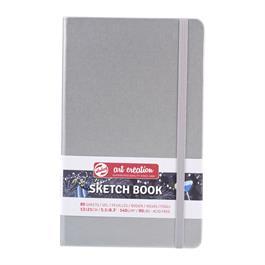 Sketchbook 13x21cm Shiny Silver thumbnail