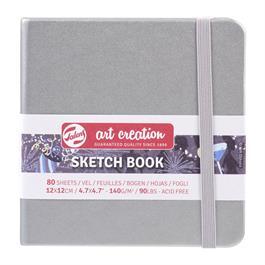 Sketchbook 12x12cm Shiny Silver thumbnail