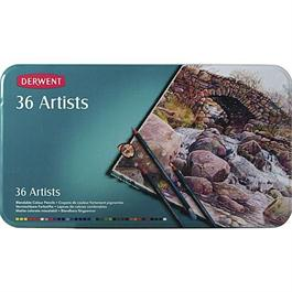 Derwent Artists' Pencils Tin of 36 thumbnail