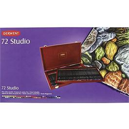 Derwent Studio Pencils Wooden Box of 72 Thumbnail Image 1