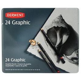 Derwent Graphic Pencils Tin of 24 thumbnail