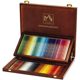 Caran D'ache Wooden Box Of 80 Supracolor Pencils thumbnail