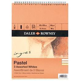 """Daler Rowney Ingres Spiral 3 Assorted Whites 12x9"""" thumbnail"""