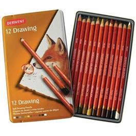 Derwent Drawing Pencils Tin of 12 thumbnail