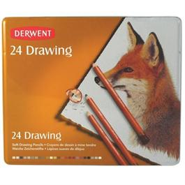 Derwent Drawing Pencils Tin of 24 thumbnail
