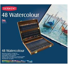 Derwent Watercolour Wooden Box of 48 Thumbnail Image 1
