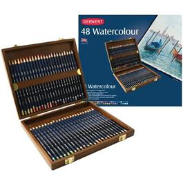 Derwent Watercolour Wooden Box of 48 Thumbnail Image 2