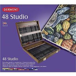 Derwent Studio Pencils Wooden Box of 48 Thumbnail Image 1