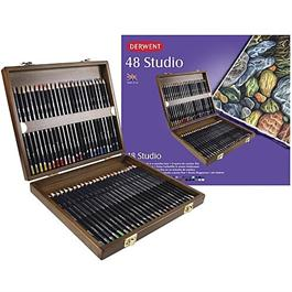 Derwent Studio Pencils Wooden Box of 48 Thumbnail Image 2