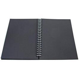 Daler Rowney Black Paper Hard Back Spiral Sketch Book 6x6inch Square thumbnail