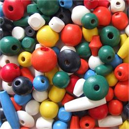 Wooden Craft Beads, 18 to 30mm. thumbnail