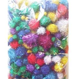 Large Pack Glitter Poms Assorted Sizes thumbnail