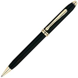 Townsend Black Lacquer / 23 Carat Gold Plated Ball Point Pen Thumbnail Image 0