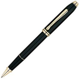 Townsend Black Lacquer / 23 Carat Gold Plated Rollerball Pen thumbnail