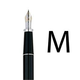 Townsend Black Lacquer / Rhodium Fountain Pen With MEDIUM Nib thumbnail