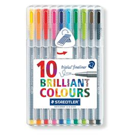 Staedtler Triplus Fineliner Box Of 10 Pens thumbnail
