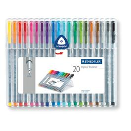 Staedtler Triplus Fineliner Box Of 20 Pens