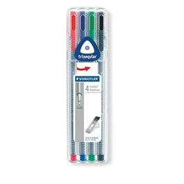 Staedtler Triplus Fineliner Box Of 4 Pens thumbnail