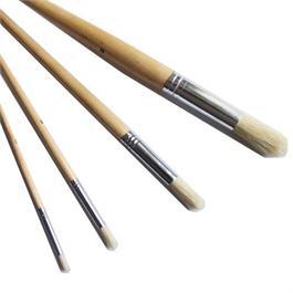 Loxley Short Handled Hog Brush Round Size 4 thumbnail