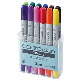 Copic Ciao Marker Set of 12 Assorted thumbnail