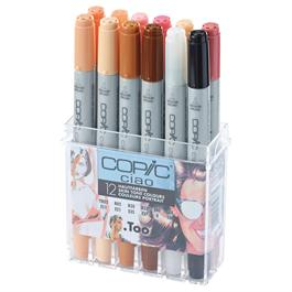 Copic Ciao Marker Set of 12 Skin Tones thumbnail