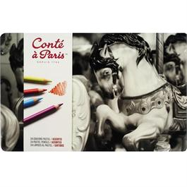 Conte Pastel Pencils Tin Of 24 thumbnail