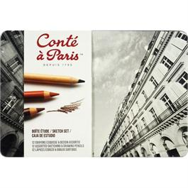 Conte Assorted Sketching & Drawing Set Of 12 Pencils thumbnail