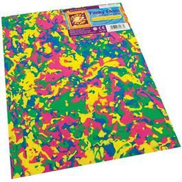 """Funky Foam Sheet 9x12"""" Multi-coloured Swirls thumbnail"""