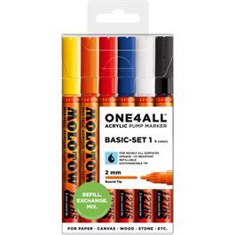 Molotow ONE4ALL 127HS Paint Pen Basic Set 2 - 6 x 2mm Round Nib Pens thumbnail