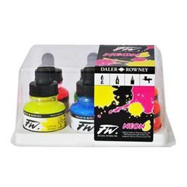 Daler Rowney FW Ink Neon Set Thumbnail Image 1