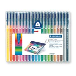 Staedtler Triplus Colour Pens - Desktop Box Of 20 Colours