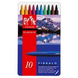 Caran D'ache Fibralo Watersoluble Pens - Tin Of 10 thumbnail