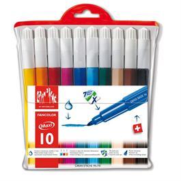 Caran D'ache Fancolor Wallet of 10 Watersoluble Maxi Fibre Tipped Pens thumbnail