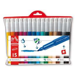 Caran D'ache Fancolor Wallet of 15 Watersoluble Maxi Fibre Tipped Pens thumbnail