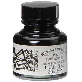 Winsor & Newton Drawing Ink 30ml Black (Indian Ink) thumbnail
